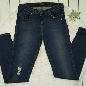 J Brand super skinny jeans with distressing 30